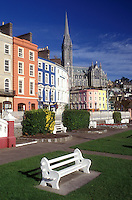 AJ0971, Europe, Republic of Ireland, Ireland, Cobh, Colorful buildings decorate the town of Cobh in County Cork.