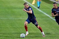 CHICAGO, UNITED STATES - AUGUST 25: Fabian Herbers #21 of Chicago Fire dribbles the ball during a game between FC Cincinnati and Chicago Fire at Soldier Field on August 25, 2020 in Chicago, Illinois.