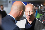 Fuenlabrada coach Antonio Calderon and Real Madrid coach Zinedine Zidane during Copa del Rey match between Fuenlabrada and Real Madrid at Fernando Torres Stadium in Madrid, Spain. October 26, 2017. (ALTERPHOTOS/Borja B.Hojas)