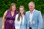 Aibhé O'Connor from Clogher NS who was confirmed last Thursday in St Brendan's Church, Clogher pictured with with parents Lisa and Tim.
