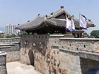Nordtor Hwaseomun der Festung von Suwon, Provinz Gyeonggi-do, Südkorea, Asien, Unesco-Weltkultueerbe