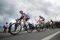 2013 Giro d'Italia.stage 13: Busseto - Cherasco..Adam Hansen (AUS) leading Francis De Greef (BEL)