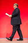 © Joel Goodman - 07973 332324 . 27/09/2016 . Liverpool , UK . TOM WATSON takes to the stage to deliver the deputy leader's speech on the third day of the Labour Party Conference . Photo credit : Joel Goodman