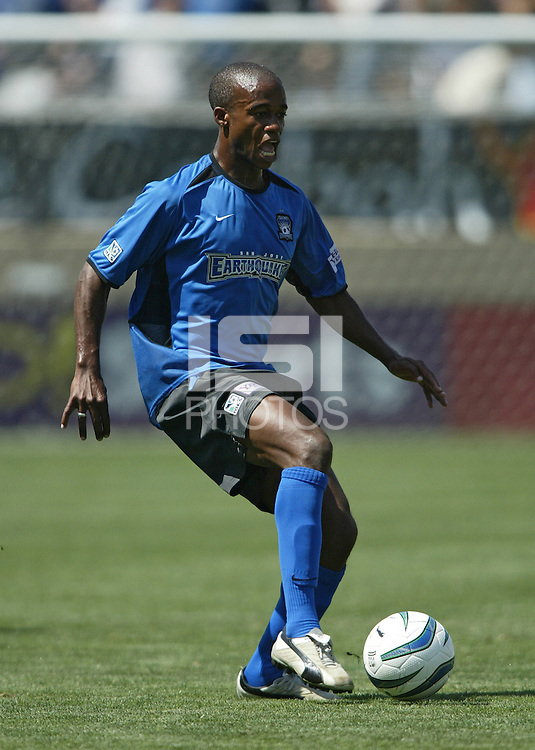 San Jose Earthquakes forward Jamil Walker in action during an MLS match against DC United on May 1, 2004 at Spartan Stadium in San Jose, California.