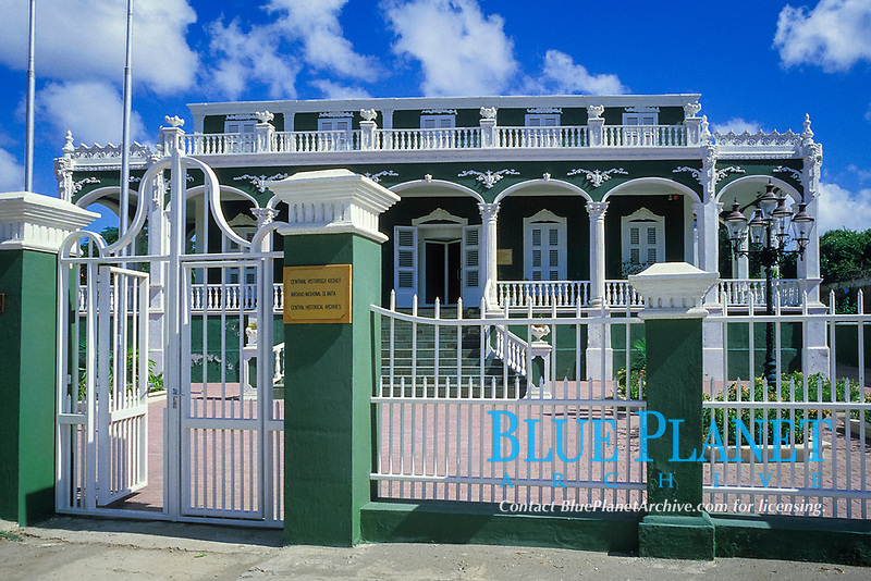 historical archive building, known as the Wedding Cake House, Willemstad, Curacao, Netherland Antilles or Dutch ABC Island, Caribbean, Atlantic, Caribbean, Atlantic