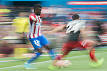Thomas Teye Partey (L)  of Atletico de Madrid fights for the ball with Mikel Balenziaga Oruesagasti (R) of Athletic Club during their La Liga match between Atletico de Madrid vs Athletic de Bilbao at the Estadio Vicente Calderon on 21 May 2017 in Madrid, Spain. Photo by Diego Gonzalez Souto / Power Sport Images