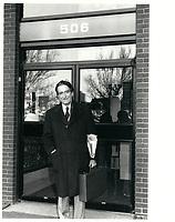 Claude Ryan le 6 avril 1974<br /> , durant la campagne a la chefferie du PLQ <br /> <br /> <br /> <br /> PHOTO :  Agence Quebec Presse