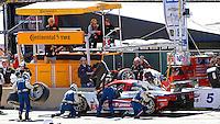 #5 Corvette DP, Joao Barbosa, Christian Fittipaldi, Sebastien Bourdais, Pit Stop, Petit Le Mans , Road Atlanta, Braselton, GA, October 2014.   (Photo by Brian Cleary/www.bcpix.com)