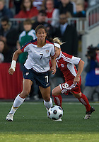 Shannon Boxx, Kelly Parker. The US Women's National Team defeated the Canadian Women's National Team, 4-0, at BMO Field in Toronto during an international friendly soccer match on May 25, 2009.