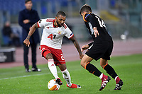 Jerome Sinclair of PFS CSKA-Sofia and Gonzalo Villar of AS Roma compete for the ball during the Europa League Group Stage A football match between AS Roma and CSKA Sofia at stadio olimpico in Roma (Italy), October, 29th, 2020. Photo Andrea Staccioli / Insidefoto