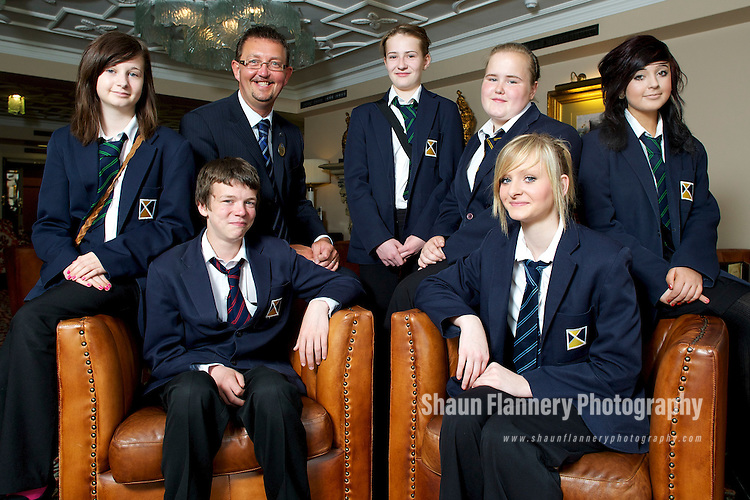 Pix: Shaun Flannery/shaunflanneryphotography.com...COPYRIGHT PICTURE>>SHAUN FLANNERY>01302-570814>>07778315553>>..24th June 2010.............Diploma in Hospitality..Year 10 students of Rossington All Saints School undertake assessment at The Mount Pleasant Hotel for their Diploma in Hospitality..L-R (back) Emma Martin, David Rowley, Emma Pearman, Amy Shepherd, Beth Brammall. (front) Michael Pattinson, Shauni Sullivan..