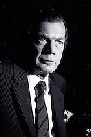 Montreal (QC) Canada- May 20 1987 File Photo - Edgar Bronfam at Seagram's annual Meeting. - Edgar Bronfman