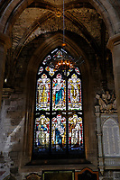 Royal Mile, St Giles Cathedral interior, stained glass windows<br /> Scotland May 8th - 19th. Trip across Scotland<br /> Foto Samantha Zucchi Insidefoto