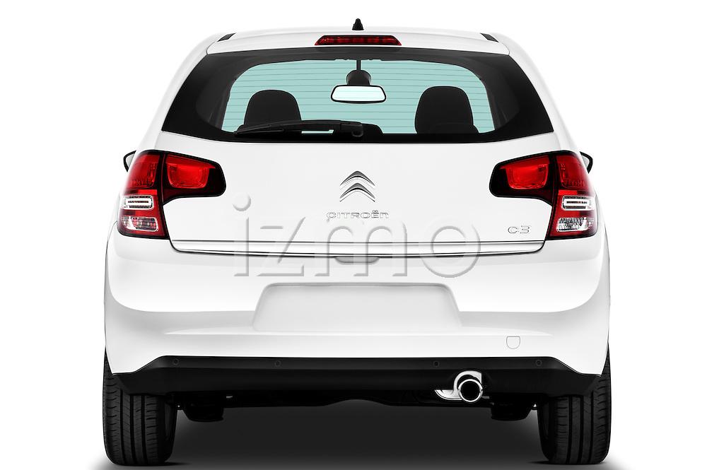 Straight rear view of a 2010 Citroen C3 Exclusive 5 Door Hatchback