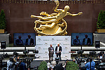 JUNE 3, 2015: Bob Baffert, trainer of American Pharoah, talks to media after American Pharoah drew the five post during the Belmont Stakes Post Position Draw at Rockefeller Center in New York, NY. Scott Serio/ESW/CSM
