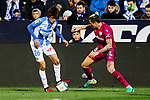 Bryan Gil of CD Leganes and Ljubomir Fejsa of Deportivo Alaves during La Liga match between CD Leganes and Deportivo Alaves at Butarque Stadium in Leganes, Spain. February 29, 2020. (ALTERPHOTOS/A. Perez Meca)