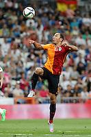Galatasaray´s Umut Bulut during Santiago Bernabeu Trophy match at Santiago Bernabeu stadium in Madrid, Spain. August 18, 2015. (ALTERPHOTOS/Victor Blanco)