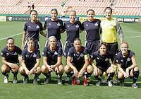 Washington Freedom starting eleven during a WPS match against Chicago Red Stars at RFK Stadium on June 13 2009, in Washington D.C.