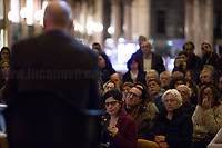 """Claudio Regeni.<br /> <br /> Rome, 03/02/20. The Galleria Alberto Sordi (outside la Feltrinelli store) was the venue for the book presentation """"Giulio Fa Cose"""" (Giulio Does Things, Ed. la Feltrinelli 1.) written by Paola Deffendi and Claudio Regeni (Giulio Regeni's Parents), and Alessandra Ballerini (Regeni's Lawyer). The event was hosted by Marino Sinibaldi (Journalist, literary critic, Radio host). Reader was Valerio Mastandrea (Director & Actor). From la Feltrinelli's website: «The world of politics has not yet responded to the tragedy of Giulio Regeni, who died on 25 January 2016 in Cairo. Al Sisi's Egypt did not respond. Indeed, it continues to sabotage the investigation into the kidnapping, torture and murder of the son of Paola and Claudio Regeni: in four years the Egyptians have killed five innocent people, invented incredible stories, falsified documents to remove suspects from their apparatuses. But without succeeding[…]» (1.)<br /> Giulio Regeni was an Italian Cambridge University graduate (PhD student at Girton College) who was kidnapped, tortured and killed in Egypt while he was researching Egypt's independent trade unions. The body of the 28-year-old researcher was found on a Cairo road on 3 February 2016. According to the autopsy, Giulio died after a vertebra in his neck was fractured. Moreover, his body - found on the Cairo-Alexandria desert road - shown signs of tortures, abrasions - including marks similar to cigarette burns - and fractures. After four years of disinformation, depistaggi, reticence, misdirection, the role of the Cambridge University, the role of President Al-Sisi Egyptian regime, after four years of a very difficult investigations for the Italian Police, the Regeni family and thousands of people are still calling for immediate truth about this brutal assassination.<br /> <br /> 1. http://bit.do/fqv39<br /> https://giuliosiamonoi.wordpress.com<br /> http://bit.do/frEzC<br /> 25.01.20 4 Anni Senza Giulio http://bit.do/frExj<br /> Vid"""