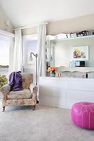contemporary floral armchair