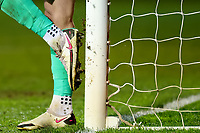 4th May 2021; Kenilworth Road, Luton, Bedfordshire, England; English Football League Championship Football, Luton Town versus Rotherham United; Simon Sluga of Luton Town cleans his boots on the goal post