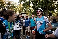 race winner Krist Neilands (LAT/Israel Cycling Academy)<br /> <br /> 60th Grand Prix de Wallonie 2019<br /> 1 day race from Blegny to Citadelle de Namur (BEL / 206km)<br /> <br /> ©kramon
