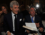 """ALAIN ELKANN CON MARIO D'URSO <br /> PRESENTAZIONE LIBRO """"RACCONTI"""" DI ALAIN ELKANN HOTEL MAJESTIC ROMA 2014"""