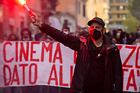 17.04.2021 - 10th Anniversary of Nuovo Cinema Palazzo's Occupation Marked In San Lorenzo