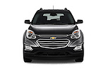 Car photography straight front view of a 2017 Chevrolet Equinox LT 5 Door Suv Front View