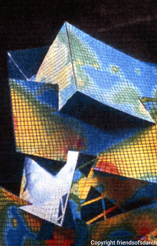 London: D. Libeskind's Victoria & Albert Scheme. Stress Analysis of Model by Ove Arup.