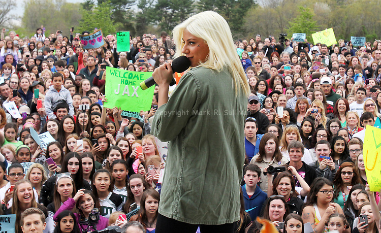 Jax who is on American Idol will be in East Brunswick with the show as part of her hometown visit. The show will be filming. A parade, concert and other events are being planned for Friday May 1,2015.<br /> Jax fans await her arrival at the East Brunswick Community Arts Center where Jax will preform a concert for the fans.