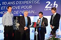 JACQUES NICOLET LAUREAT DU TROPHEE SPIRIT OF LE MANS ALEX WURZ GRAND MARSHALL DES 24 HEURES 2016 PIERRE FILLON (FRA) PRESIDENT AUTOMOBILE CLUB DE L'OUEST