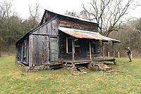 Additions were built on to the original log home. The J.D. Hickman family was the last to occupy the farmstead, from 1912 to 1978.<br />(NWA Democrat-Gazette/Flip Putthoff)