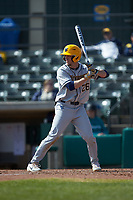 Braden Zarbnisky (26) of the West Virginia Mountaineers at bat against the Illinois Fighting Illini at TicketReturn.com Field at Pelicans Ballpark on February 23, 2020 in Myrtle Beach, South Carolina. The Fighting Illini defeated the Mountaineers 2-1.  (Brian Westerholt/Four Seam Images)