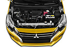 Car Stock 2020 Mitsubishi Space-Star Diamond-Edition 5 Door Hatchback Engine  high angle detail view