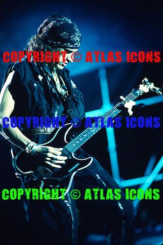 Joe Perry Guitarist of; Aerosmith ;Live ; On th Pump Tour 1990.Photo Credit: Eddie Malluk/Atlas Icons.com
