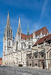 Germany, Bavaria, Upper Palatinate, Regensburg: Cathedral St. Peter