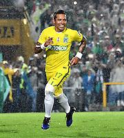 BOGOTA - COLOMBIA -25-02-2017: Dayro Moreno, jugador de Atletico Nacional, en acción durante partido entre La Equidad y Atletico Nacional, por la fecha 5 de la Liga Aguila I-2017, jugado en el estadio Nemesio Camacho El Campin de la ciudad de Bogota. / Dayro Moreno, player of Atletico Nacional, in action during a match between La Equidad and Atletico Nacional, for the date 5 of the Liga Aguila I-2017 at the Nemesio Camacho El Campin Stadium in Bogota city, Photo: VizzorImage  / Luis Ramirez / Staff.