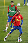 Spain's Sergio Ramos during training session. March 21,2016. (ALTERPHOTOS/Acero)