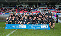 Tuesday 6th March 2019 | Ulster Schools Cup - Semi Final 1<br /> <br /> Campbell College celebrate their victory after the Ulster Schools cup semi-final between Campbell College Belfast and the Royal School Armagh at Kingspan Stadium, Ravenhill Park, Belfast, Northern Ireland. Photo by John Dickson / DICKSONDIGITAL