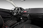 Passenger side dashboard view of 2010 Seat Ibiza ST 5 Door Wagon Stock Photo