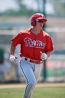 Philadelphia Phillies Stoney O'Brien (33) during a Minor League Extended Spring Training game against the Pittsburgh Pirates on May 3, 2018 at Pirate City in Bradenton, Florida.  (Mike Janes/Four Seam Images)
