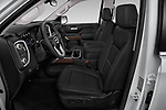 Front seat view of a 2019 GMC Sierra 1500 SLT 4 Door Pick Up front seat car photos