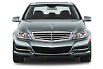 Straight front view of 2014 Mercedes C Class Luxury Sedan Stock Photo