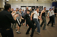 """""""How To Succeed in Business Without Really Trying"""" in  rehearsal studio.  New 42nd Street Studios.  Photo by Ari Mintz.  2/8/2011."""