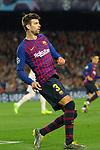 UEFA Champions League 2018/2019.<br /> Quarter-finals 2nd leg.<br /> FC Barcelona vs Manchester United: 3-0.<br /> Gerard Pique.