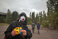 "UKRAINE, Chernobyl, 2010/10/6<br /> REGULAR TOURISM - One of these ""regular"" tourists in the abandoned ghost town Pripyat. 7000 tourists visit Chernobyl every year,  Chernobyl, October 6, 2010. <br /> © Vaclav Vasku/EST&OST"
