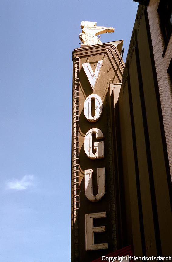 Movie Theatre: Vancouver--Vogue Marquee, Granville St. Photo '86.