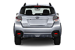 Straight rear view of 2016 Subaru Crosstrek Hybrid-Touring 5 Door SUV Rear View  stock images