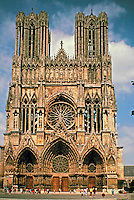 Reims Cathedral, a UNESCO World Heritage Site since 1991. Reims, France. Great example of Gothic Architecture.